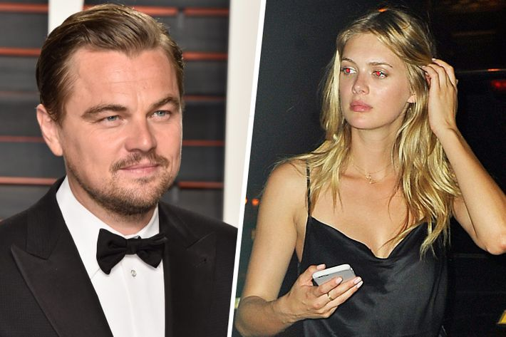 Leo DiCaprio and the mystery blonde.