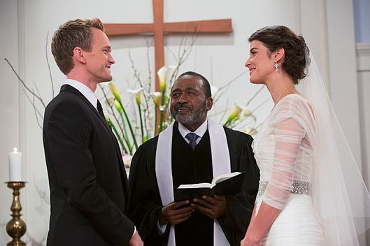 """The End of the Aisle"" ???€?"" With only a half-hour to go, both Barney and Robin have panic attacks about their upcoming nuptials. Meanwhile, Marshall and Lily rewrite their old wedding vows, on the final season of HOW I MET YOUR MOTHER, Monday, xx (8:00-8:30 PM, ET/PT) on the CBS Television Network.  Pictured: Neil Patrick Harris as Barney, Cobie Smulders as Robin.Photo: Richard Cartwright/CBS ?'??2014 CBS Broadcasting, Inc. All Rights Reserved"
