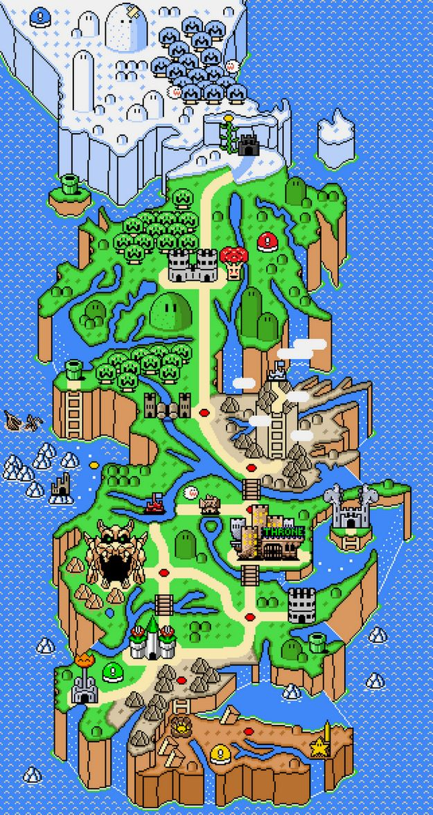 See A Super Mario World Map Of Westeros