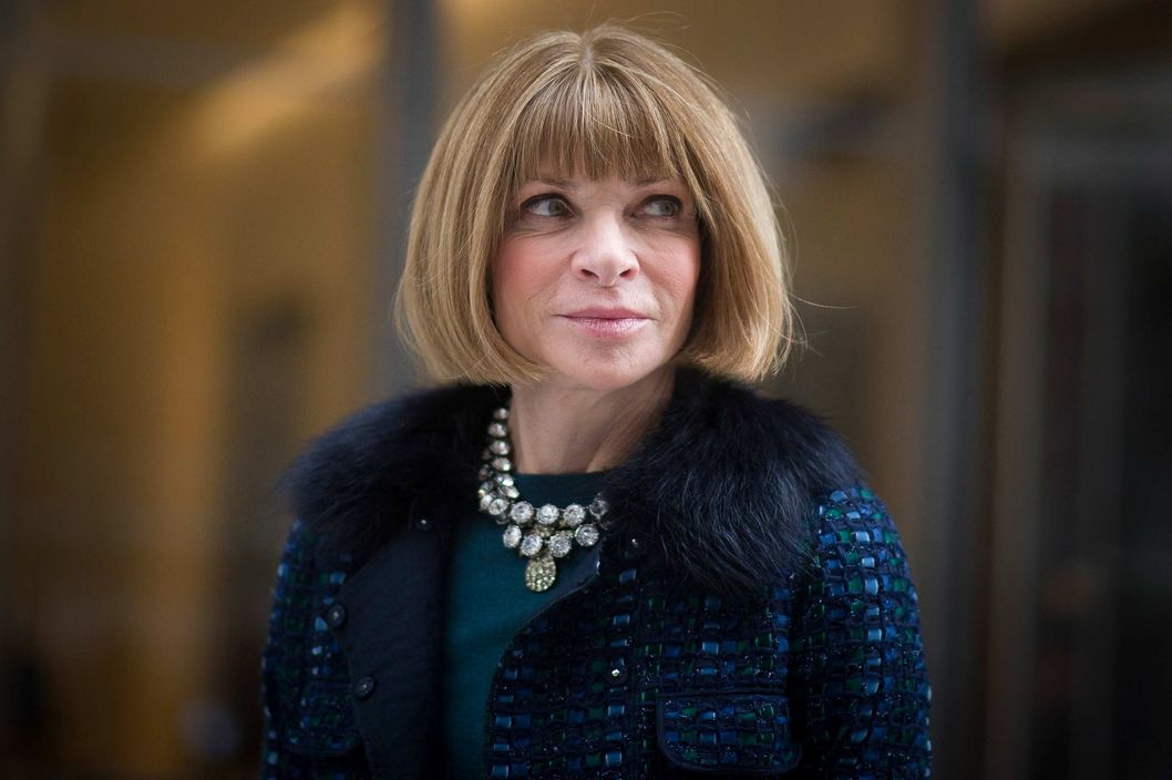 Anna Wintour seen outside the Boss show on February 12, 2014 in New York City.