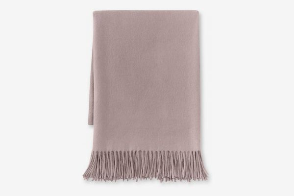 Williams Sonoma Home Solid Cashmere Throw, Smokey Amethyst