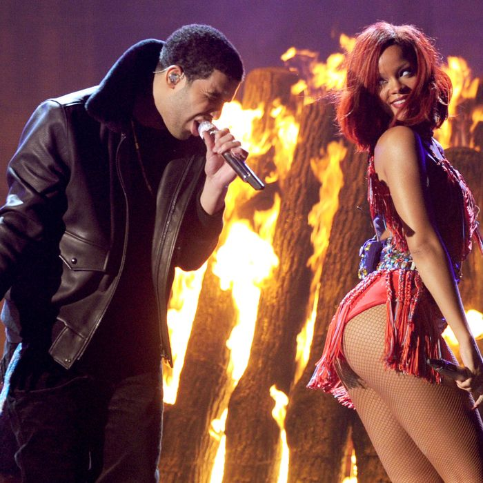 Drake and Rihanna. Photo: Kevin Winter/Getty Images