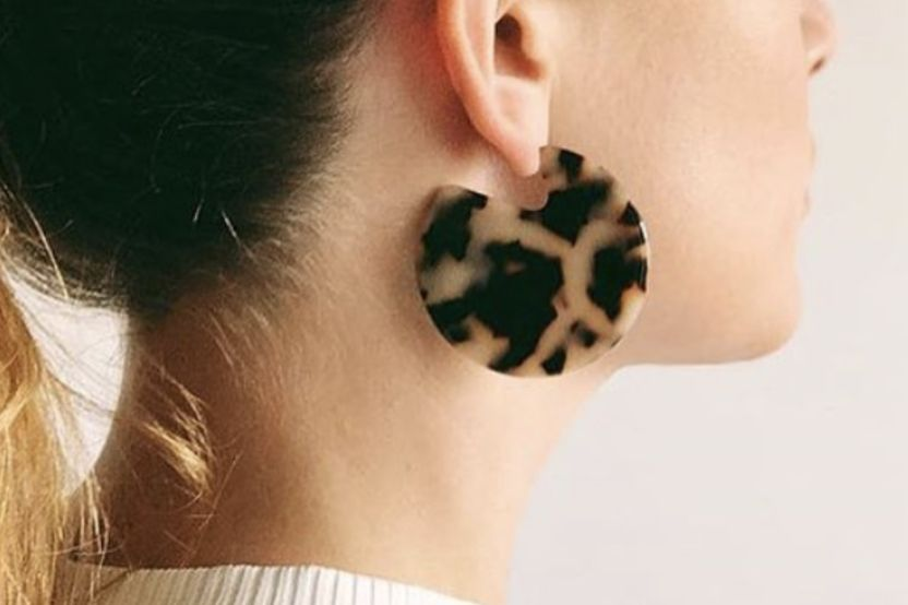 Machete Clare Earrings in Tortoise