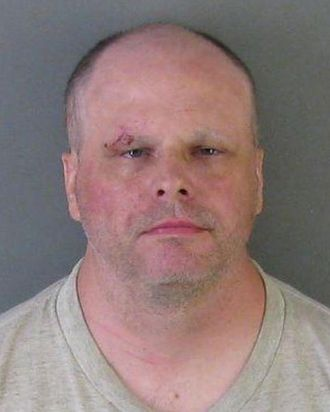 Gaston County Jail booking photo of Matthew McAveeney, 46, who was arrested in Belmont, North Carolina on Tuesday in connection with the beating death of his mother in her Winchester Condo.