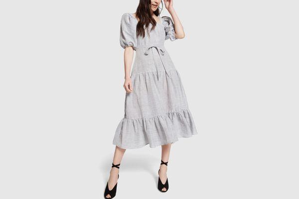Co. Square Neckline Linen Dress