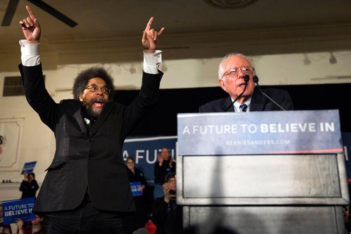 Bernie Sanders and Cornel West