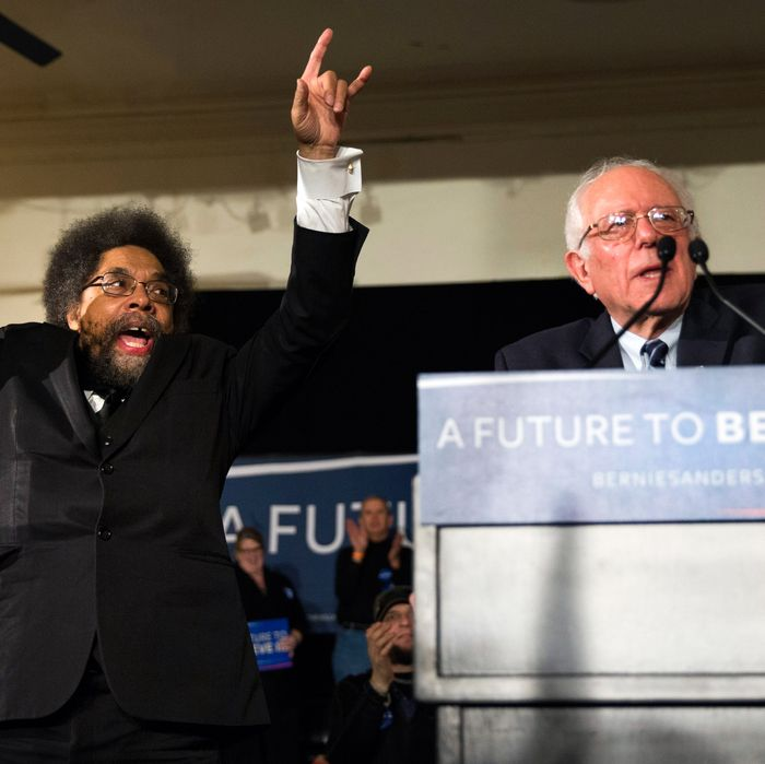 Bernie Sanders and Cornel West