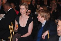 Actress Cynthia Nixon (C) and Christine Marinoni attend the Rush HeARTS Education Luncheon at The Plaza Hotel on February 14, 2014 in New York City.
