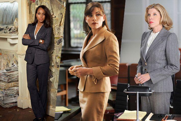 Kerry Washington on Scandal; Alicia Florrick and Christine Baranski on The Good Wife