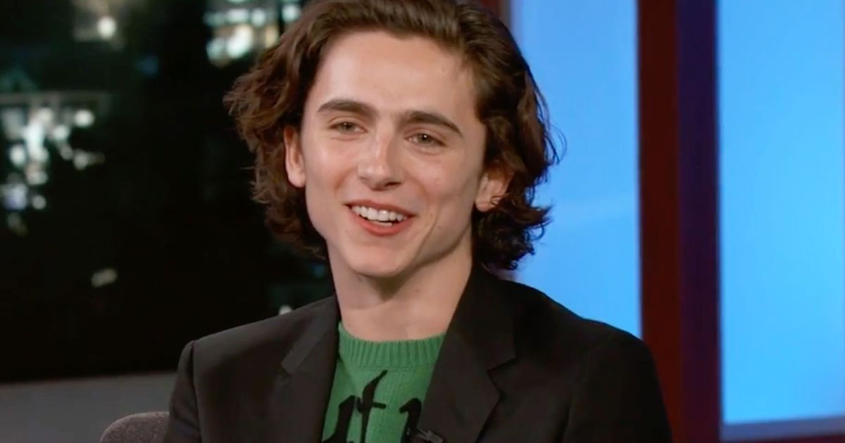 Timothe Chalamet Knows You Think Hes Freddie Highmore