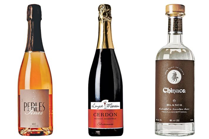 Perles Fines Champagne, Bugey-Cerdon bubbly, and Chinaco tequila.