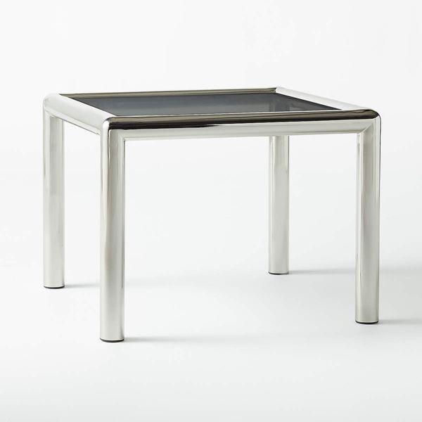 CB2 Conrad Wire Glass Side Table