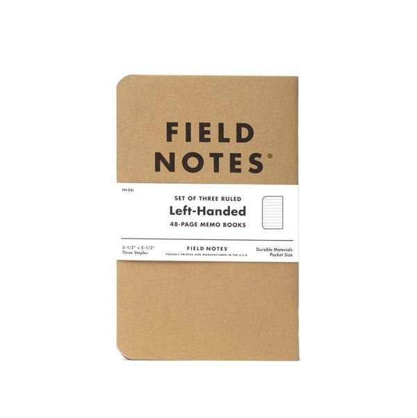 Field Notes Left-Handed Ruled Notebooks (3-Pack)
