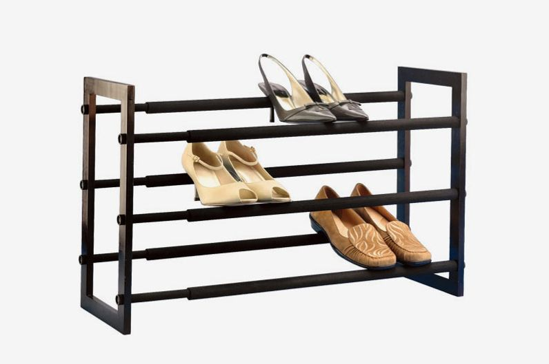 The Container Store Walnut 3-Tier Grippy Shoe Rack