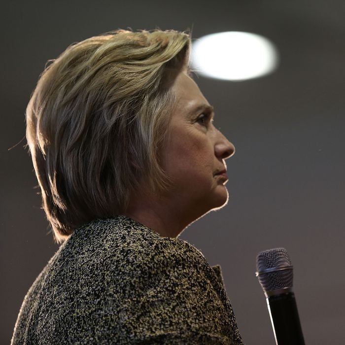 Democratic Presidential Candidate Hillary Clinton Campaigns In Indiana