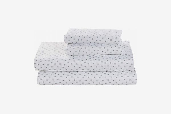 Stone & Beam Starburst 100% Cotton Sateen Sheet Set, Queen, Oasis