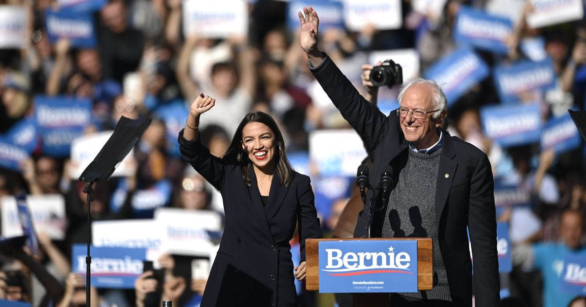Ocasio-Cortez Credits Sanders for Her Political Awakening at Bernie's Comeback Rally in Queens