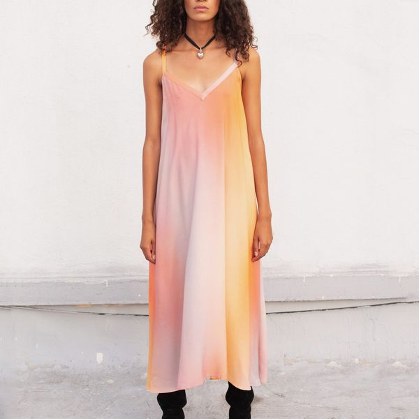 Veda Fiesta Dress in Sunset Ombre