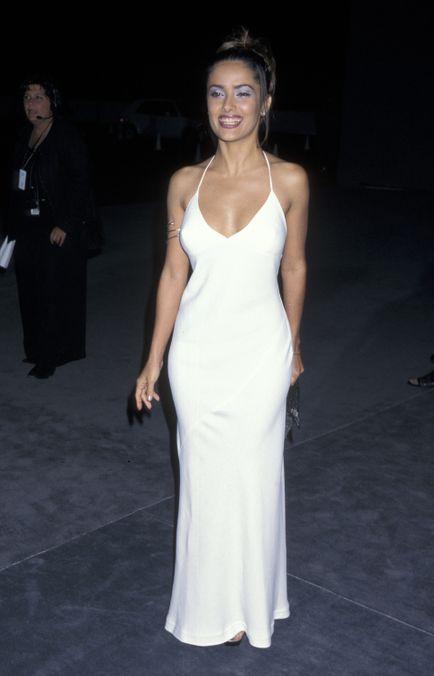 Photo 3 from Salma Hayek's Bright-White Dress
