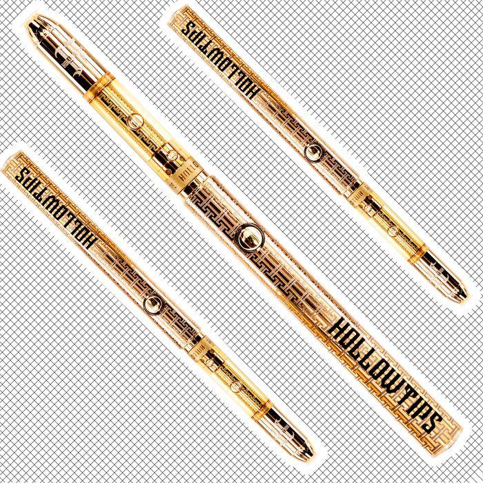 Gold-plated vape pens.