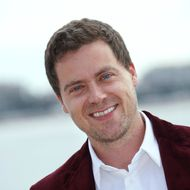"US Greg Poehler poses during a photocall for the TV series ""Welcome to Sweden"" as part of the Mipcom international audiovisual trade show at the Palais des Festivals, in Cannes, southeastern France, on October 7, 2013."