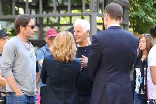 The X-Files' creator Chris Carter back on 'X-Files Revival' set!