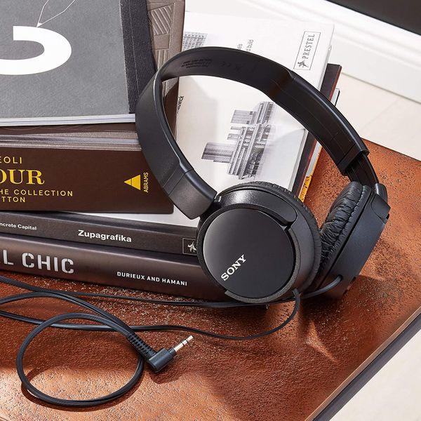 Sony MDRZX110B.AE Lightweight Foldable On-Ear Headphones