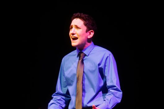 Jonah Rawitz, from Chicago, IL performing at the sixth annual National High School Musical Theater Awards (nicknamed the Jimmy Awards after James Nederlander) at the Minskoff Theatre in New York City on June 30, 2014.  Rawitz was named best actor at the awards.