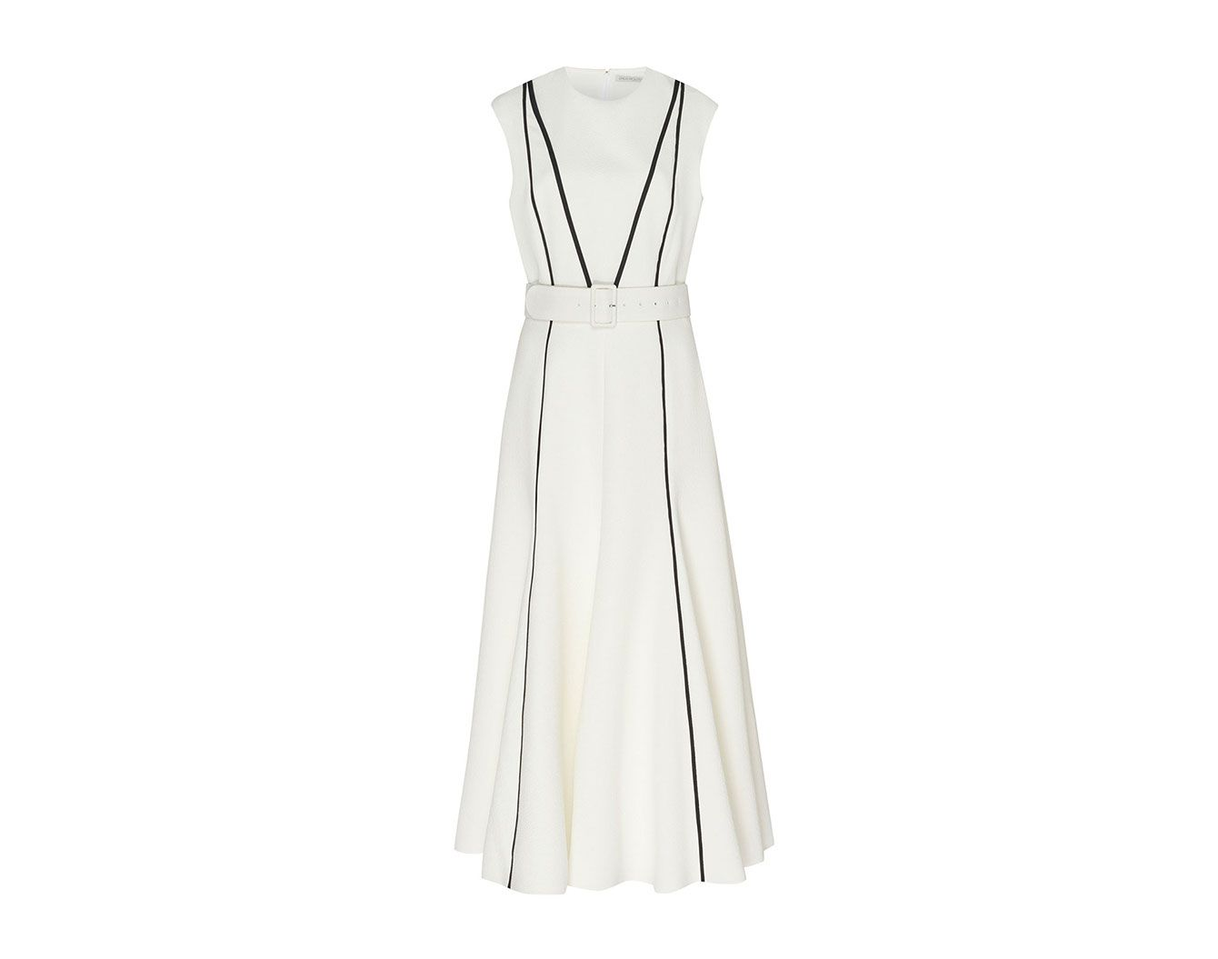 Emilia Wickstead Denvella Piping Midi Dress