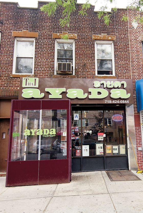 "27.  <b>Ayada</b>  In the beginning, there was <a href=""http://nymag.com/listings/restaurant/sripraphai/"">SriPraPhai</a>, a mecca for those craving the aromatic, pungent, frequently torrid flavors of real Thai food. But over the past decade or so, the field has grown crowded; Manhattanites trip over fiery larb in their own backyards. Even so, homey Ayada still makes a strong case to visit Queens, in the form of its raw-shrimp salad, redolent of lime and garlic; its panang duck curry, with its pinpoint calibration of sweet, sour, and spicy; its crisp, lacy catfish salad; and its mango sticky rice, a dissertation in ripeness.  <i>77-08 Woodside Ave., Elmhurst; 718-424-0844 (<a href=""http://nymag.com/listings/restaurant/ayada/"">View the Listing</a>)</i>"