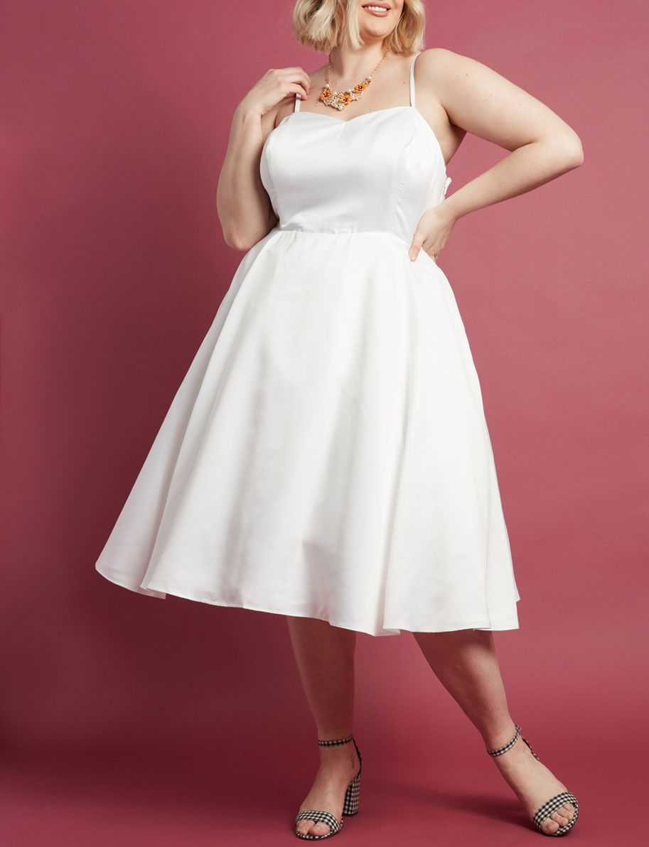 Fantasy Fulfilled Fit and Flare Midi Dress in White