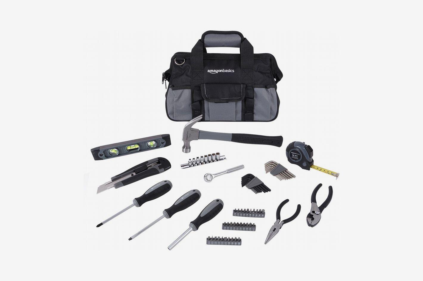 AmazonBasics Home Repair Kit, 65-Piece