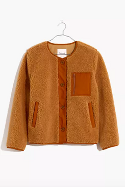 Madewell Sherpa Chestnut Jacket