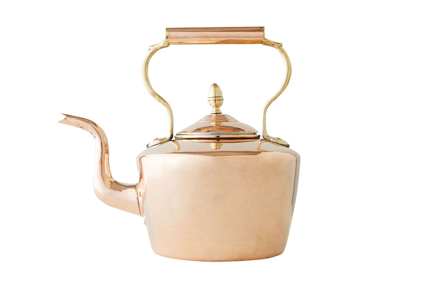 Coppermill Kitchen Vintage Copper Large Round English Tea Kettle