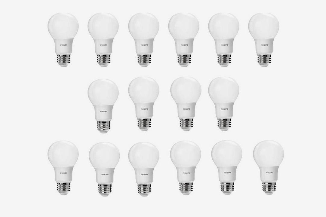 Philips LED Non-Dimmable A19 Frosted Light Bulb, 16 Pack