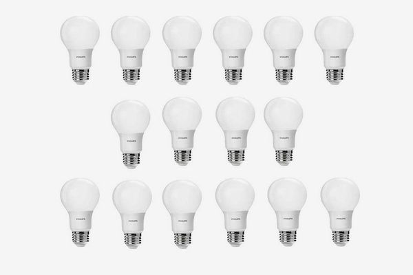 Philips Non-Dimmable A19 Frosted LED Light Bulbs, Daylight 3000K Color Temperature (16-Pack)