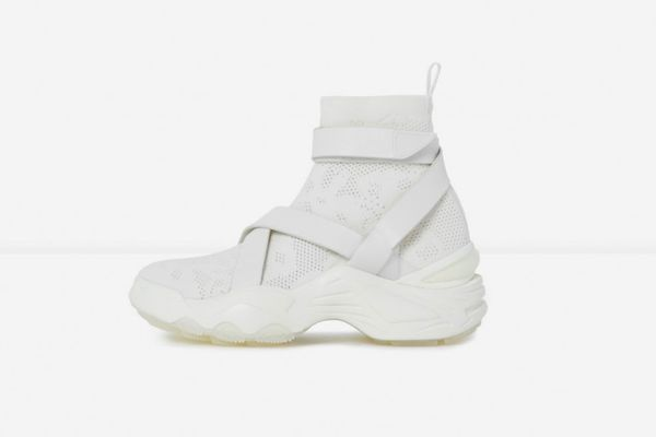 The Kooples Slick Chunky White High-Top Trainers