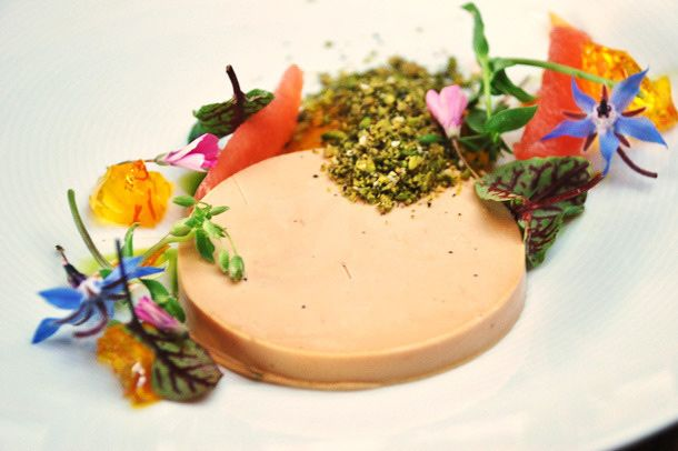 Micah Wexler's foie gras terrine at Hollywood restaurant Mezze, which has since closed.