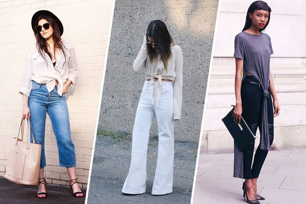 A Tied Shirt Doesn't Have to Look Grunge