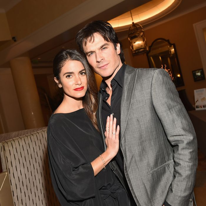 Nikki reed and ian somerhalder celebrated their anniversary nikki reed and ian somerhalder are not shy when it come to proclaiming their love for one another in public the two actors celebrated their two year junglespirit Gallery