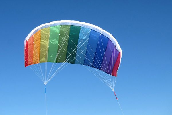 In the Breeze Tie Dye 62 Inch Sport Kite — Dual Line Stunt Parafoil