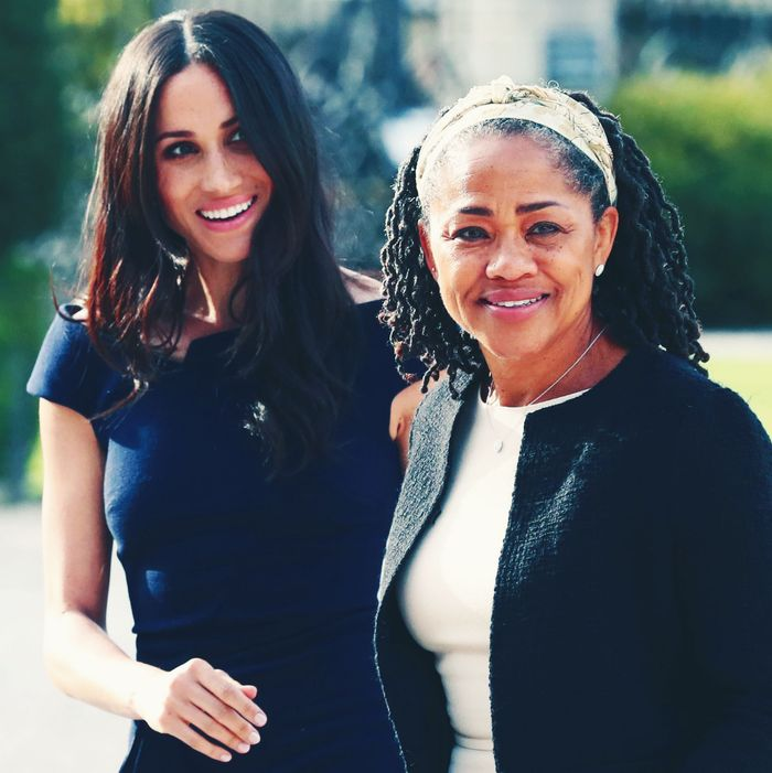 Doria Ragland and Meghan Markle.