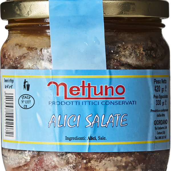 Nettuno Anchovies in Sea Salt
