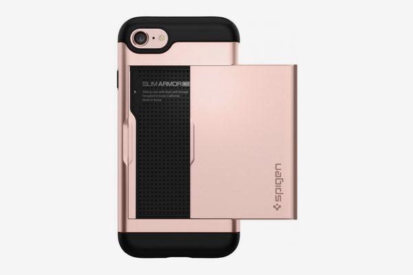 Spigen Slim Armor iPhone Case with Card Slot Holder
