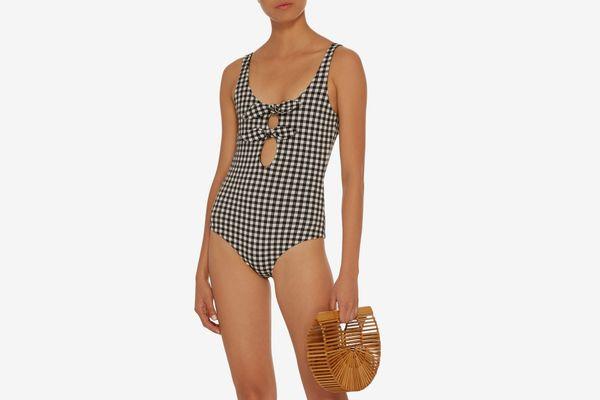 Mara Hoffman Maven Gingham One Piece Swimsuit