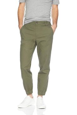 Amazon Essentials Men's Straight-fit Jogger Pant in Olive