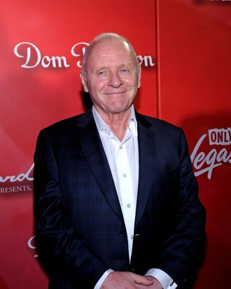 Actor Anthony Hopkins arrives at the Keep Memory Alive foundation's