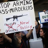 Protestors Rally For Gun Control At Broward Courthouse After FL School Shooting