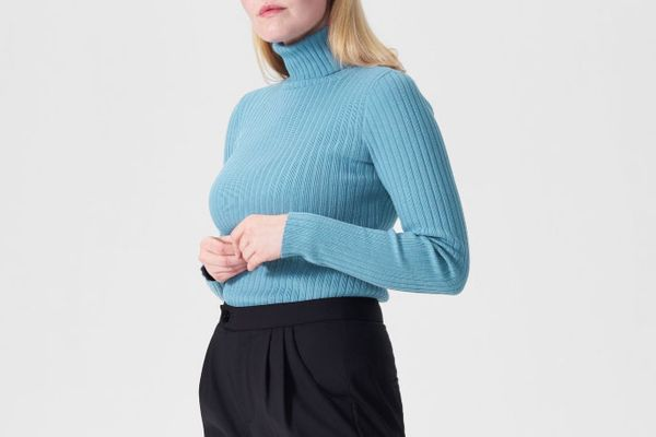 Universal Standard Luz Ribbed Turtleneck Sweater