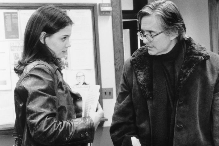 Katie Holmes and Michael Douglas in <em>Wonder Boys</em>